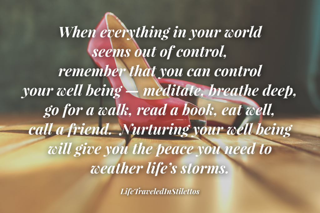 Take Control Of The Things You Can Control and Letting Go Of What You Can't